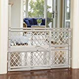 North States Mypet Paws 42' Portable Pet Gate: Expands & Locks In Place with No Tools. Pressure Mount. Fits 26'- 42' Wide (23' Tall, Light Gray)