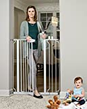 Regalo Easy Step Extra Tall Walk Thru Baby Gate, Includes 4-Inch Extension Kit, 4 Pack of Pressure Mount Kit and 4 Pack Wall Cups and Mounting Kit