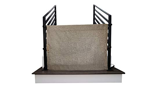 The Stair Barrier Baby and Pet Gate – Banister-to-Banister - Retractable Fabric Safety Gate Wide and Regular Sizes - Made in the USA – Modern Grey
